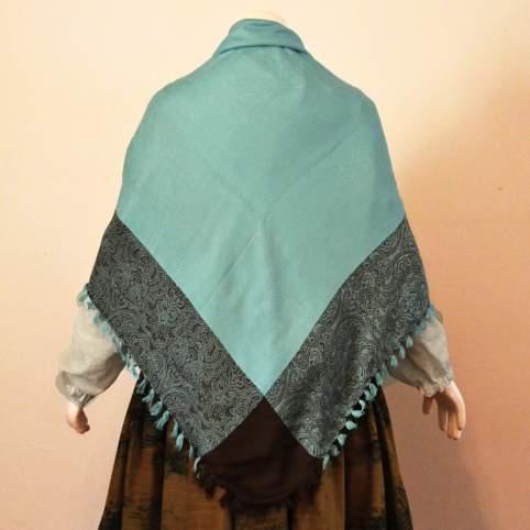 Pañuelo viscosa azul turquesa