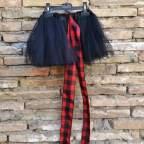 Falda tul negra