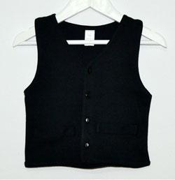 Chaleco negro para traje baturro - Baturricos