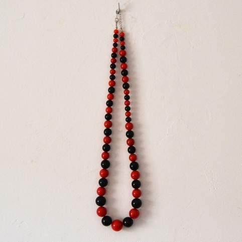 Collar bicolor rojo y negro