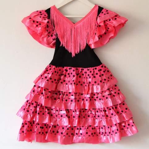 Vestido sevillana o flamenca fucsia