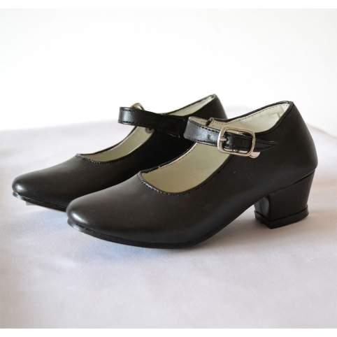 Zapatos sevillana o flamenca negros