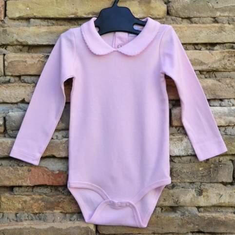 Body rosa bebé con cuello