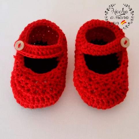 Zapatos sevillana rojo para bebé
