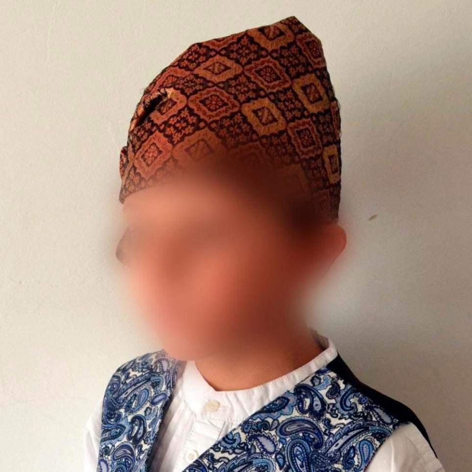 Pañuelo cabeza cuadros pico para traje baturro de bebé y adulto
