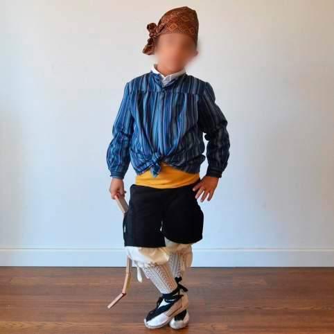 Traje baturro o regional con blusón azul para bebé, niño y adulto