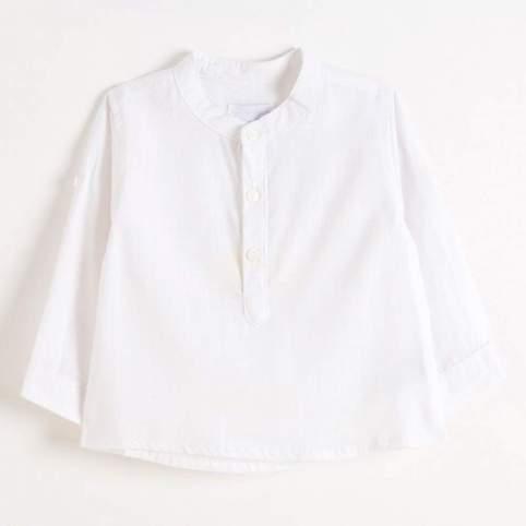 Camisa Blanca Cuello Mao para Traje Baturro de Niño