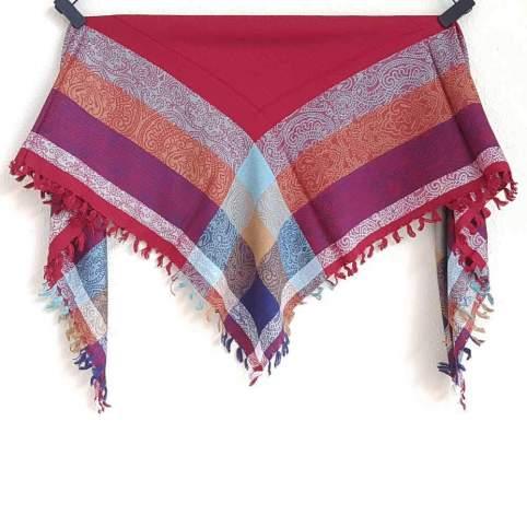 Pañuelo Fibrana Granate para traje regional, baturra, valenciana, vasco
