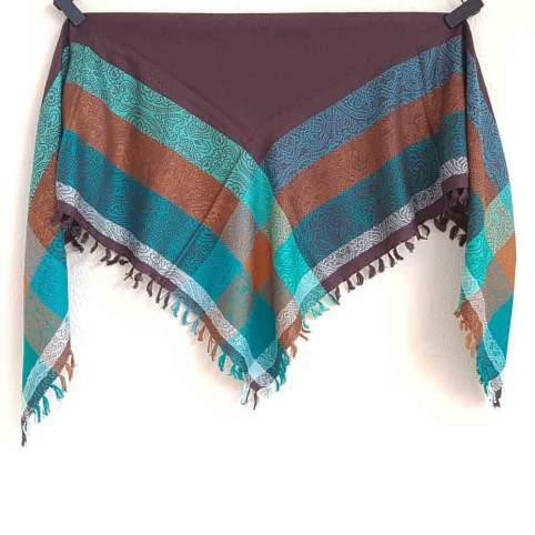 Pañuelo Fibrana Marrón para traje regional, baturra, valenciana, vasco