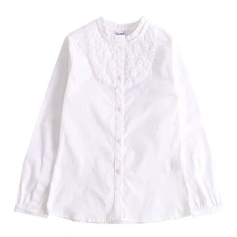 Blusa Baturra para Niña Color Blanco con Bordado