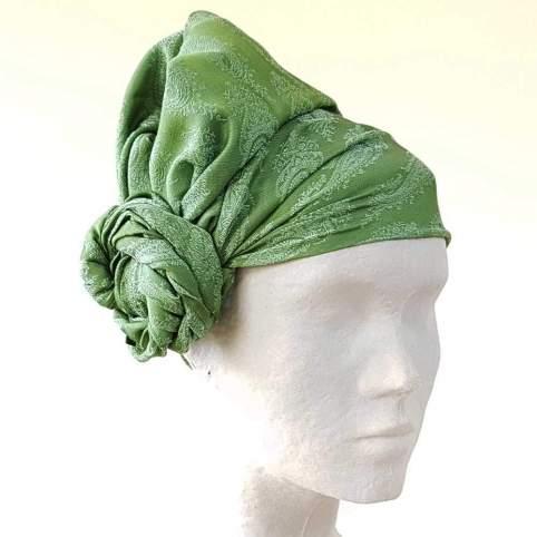 Pañuelo Cabeza Cachemir Verde para Traje Baturro