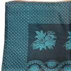 Pañuelo Cabeza Flores Azul para Traje Baturro o Valenciano
