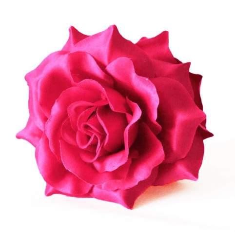 Flor Pelo Rosa Con Pinza Mod. Rosa para tu Traje de Sevillana, Flamenca o Chulapa