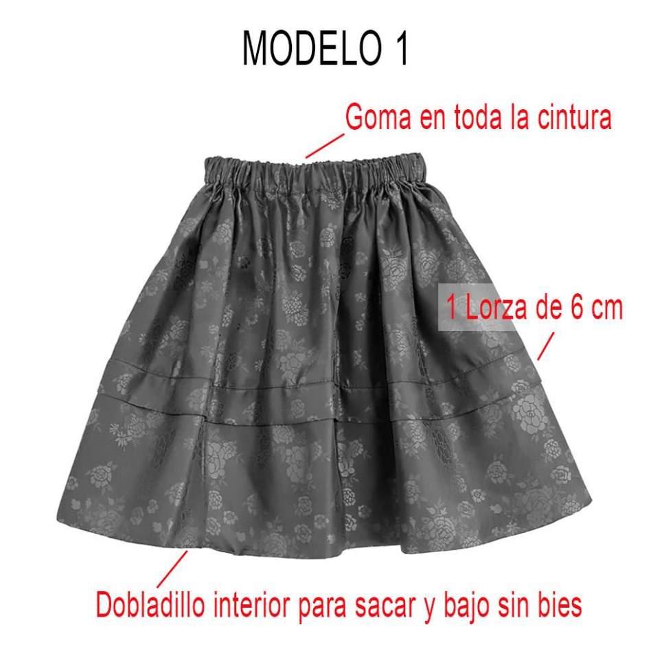 Modelos Saya tradicional para traje baturra, traje valenciana y traje regional