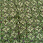 Saya Percal Floral Verde para traje baturra, valenciana, regional... para bebés, niñas y adultas