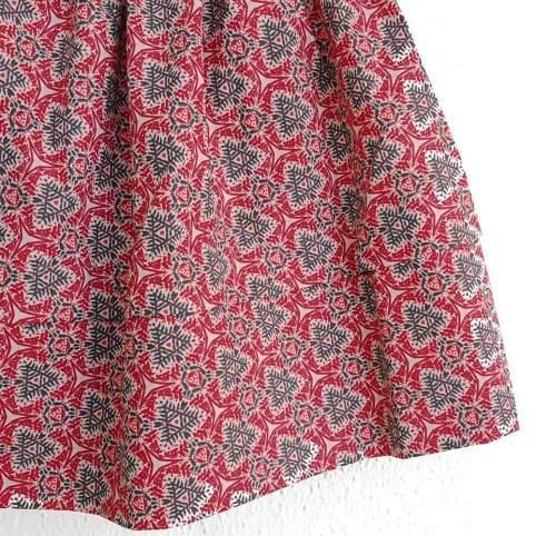 Saya Percal Geo Rojo para traje baturra, valenciana, regional... para bebés, niñas y adultas