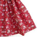 Saya Percal Flores Rojo