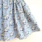 Saya Percal Flores Azul