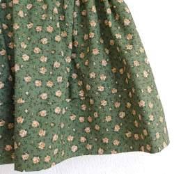 Saya Baturra Percal Flores Verde para Traje Baturra, Traje Valenciano, Traje Regional