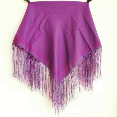 Mantón con Flecos Morado Mod. PR173 para traje baturra