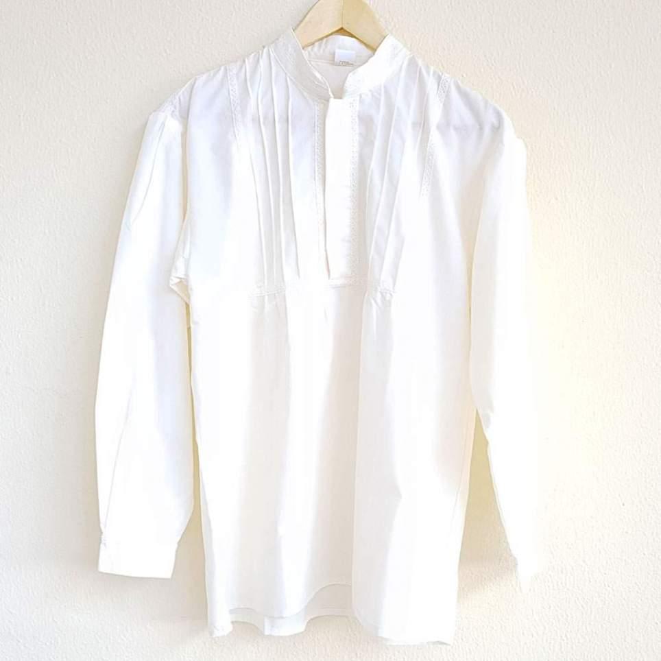 Camisa Tradicional Cuello Mao Beis para Traje Baturro o Regional