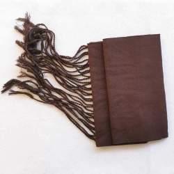 Faja de algodón marrón chocolate con flecos para traje baturro o regional