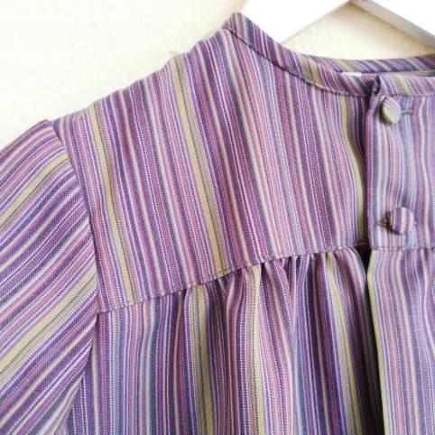 Tocinera o blusón rayas morado para traje baturro bebé o niño