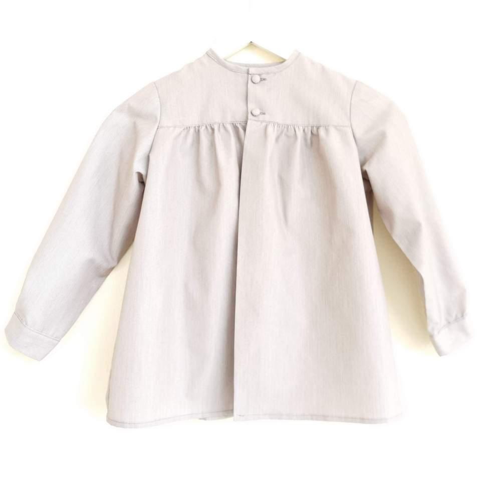 Tocinera o blusón marrón para traje baturro bebé o niño