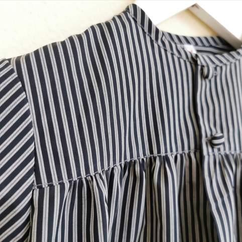 Tocinera o blusón rayas negro para traje baturro bebé o niño