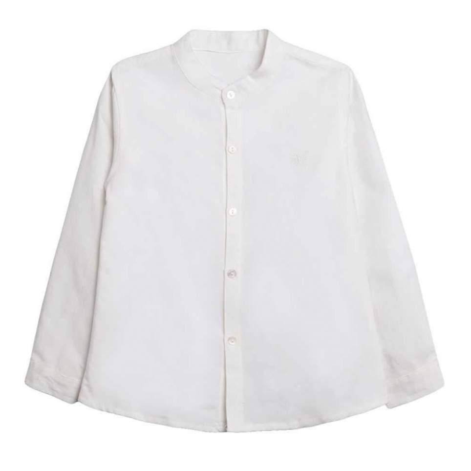 Camisa baturro blanca cuello mao para traje baturro niño