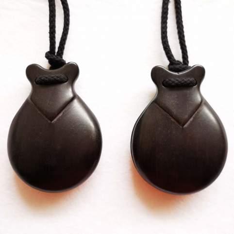 Castañuelas jota de madera granadillo negro CON pico