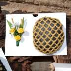 Ejemplo ramillete amarillo con redecilla