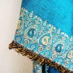 Mantón Reversible Azul Cenefa