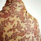 Mantón reversible granate para traje de baturra - Baturricos