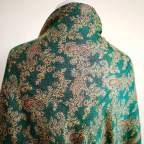 Mantón Reversible Verde Cachemir para traje baturra