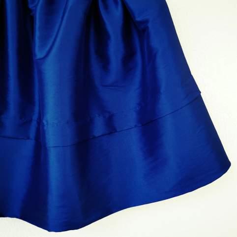 Saya Tafetán Azul para Traje Regional o Baturra