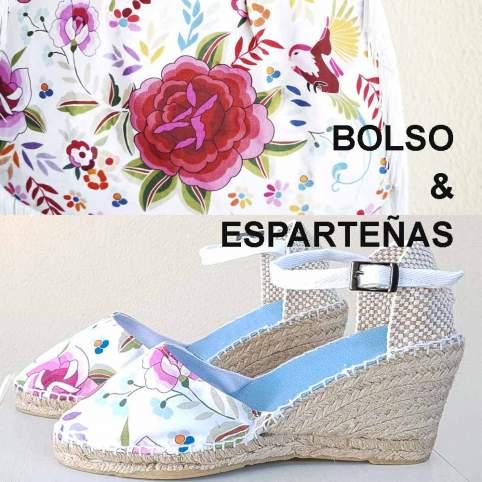 Bolso + Esparteñas Mod. Manila Blanco. Moda Folk-Chic - Baturricos.com
