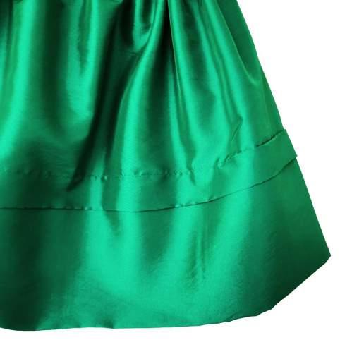 Saya Tafetán Verde para Traje Regional o Baturra