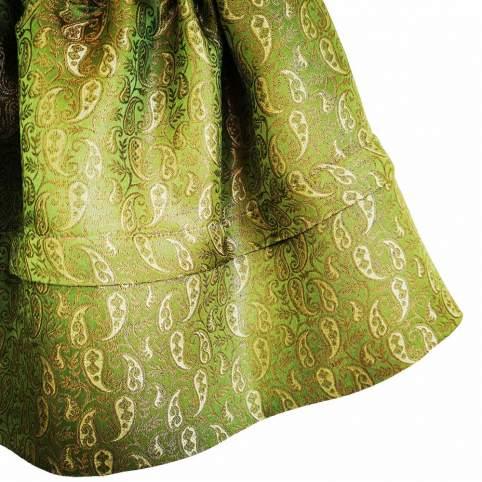 Saya Verde Brocado Cachemires para tu traje baturra