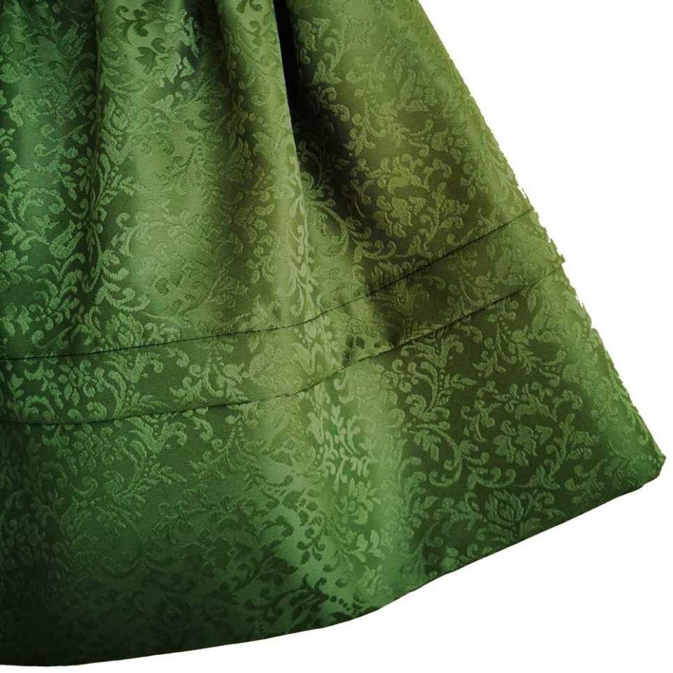 Saya Baturra Verde con Brocado Floral para tu traje baturra de gala