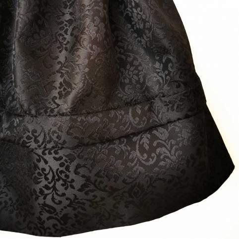 Saya Baturra Negra con Brocado Floral para tu traje baturra de gala