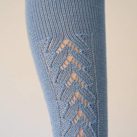 Media tradicional azul espiga lateral