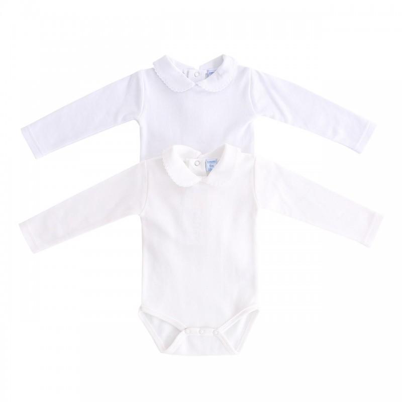 Body bebé liso blanco o crudo - Baturricos