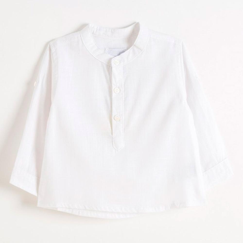 Camisa blanca para traje baturro niño cuello mao - Baturricos
